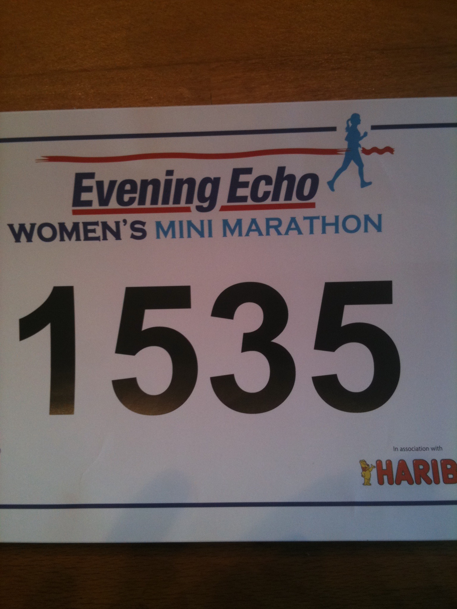 Cork Mini Marathon bib